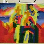«Старая Москва». Гобелен Ольги Толстиковой. «Old Moscow». Tapestry by Olga Tolstikova. 2012